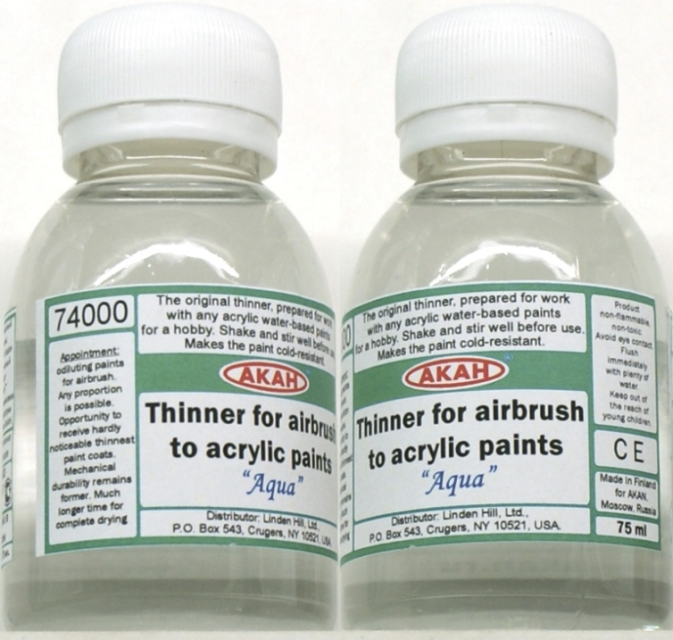 akan74000 75 akan acrylic airbrush thinner 75ml thinner